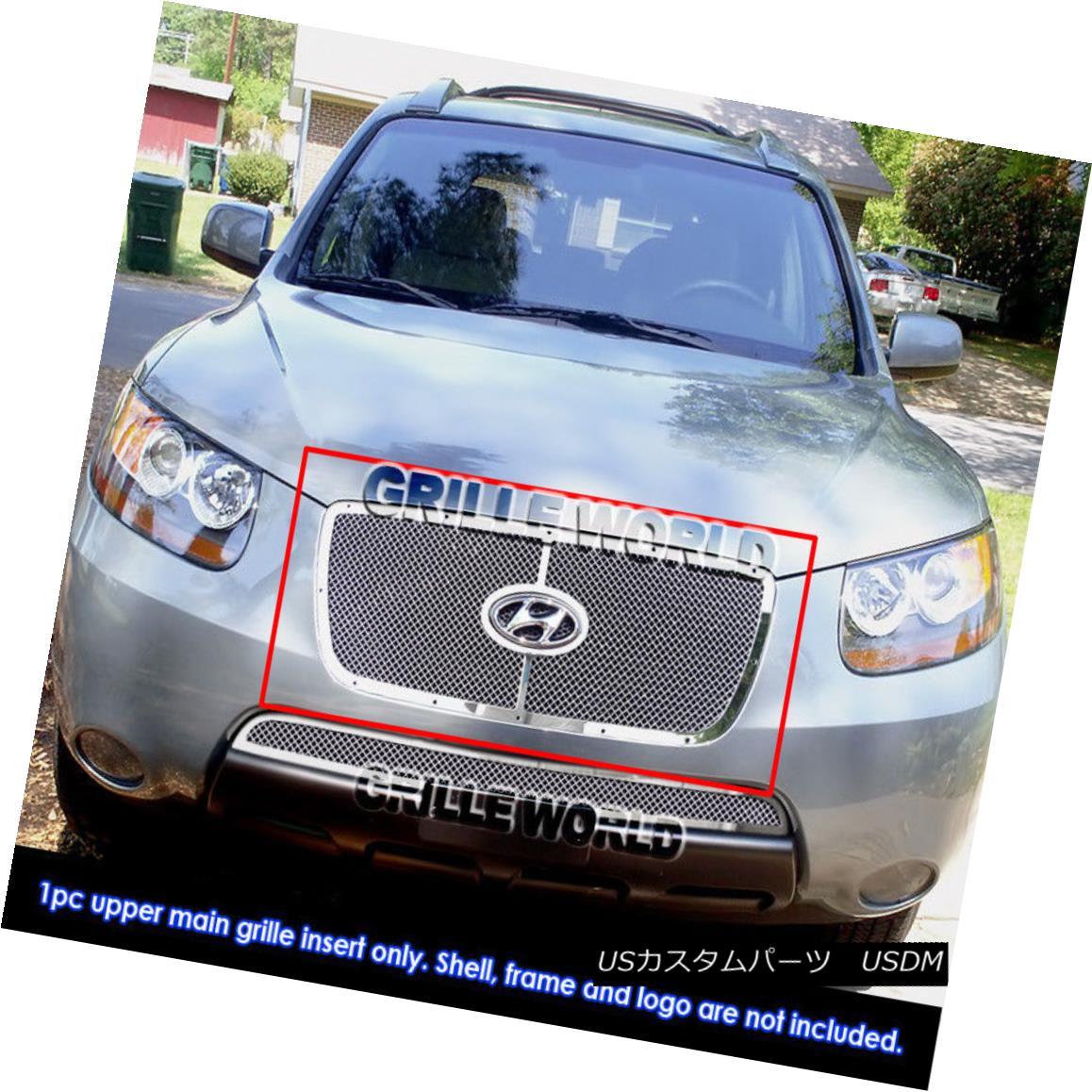 グリル Fits 07-09 Hyundai Sante Fe With Logo Show 07-09ヒュンダイサンタフェロゴショーに適合