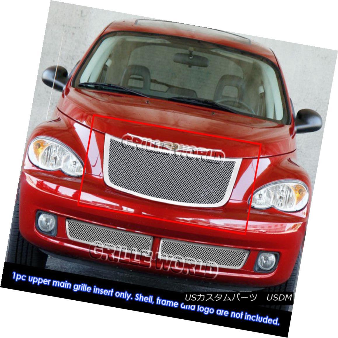 グリル For 2006-2010 Chrysler PT Cruiser Stainless Steel Mesh Grille Grill Insert 2006-2010クライスラーPTクルーザーステンレスメッシュグリルグリルインサート用