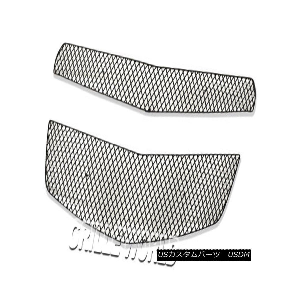 グリル For 2010-2015 Chevy Equinox Black Stainless Steel X Mesh Grille Insert 2010-2015シボレーエクイノックスブラックステンレススチールメッシュグリルインサート