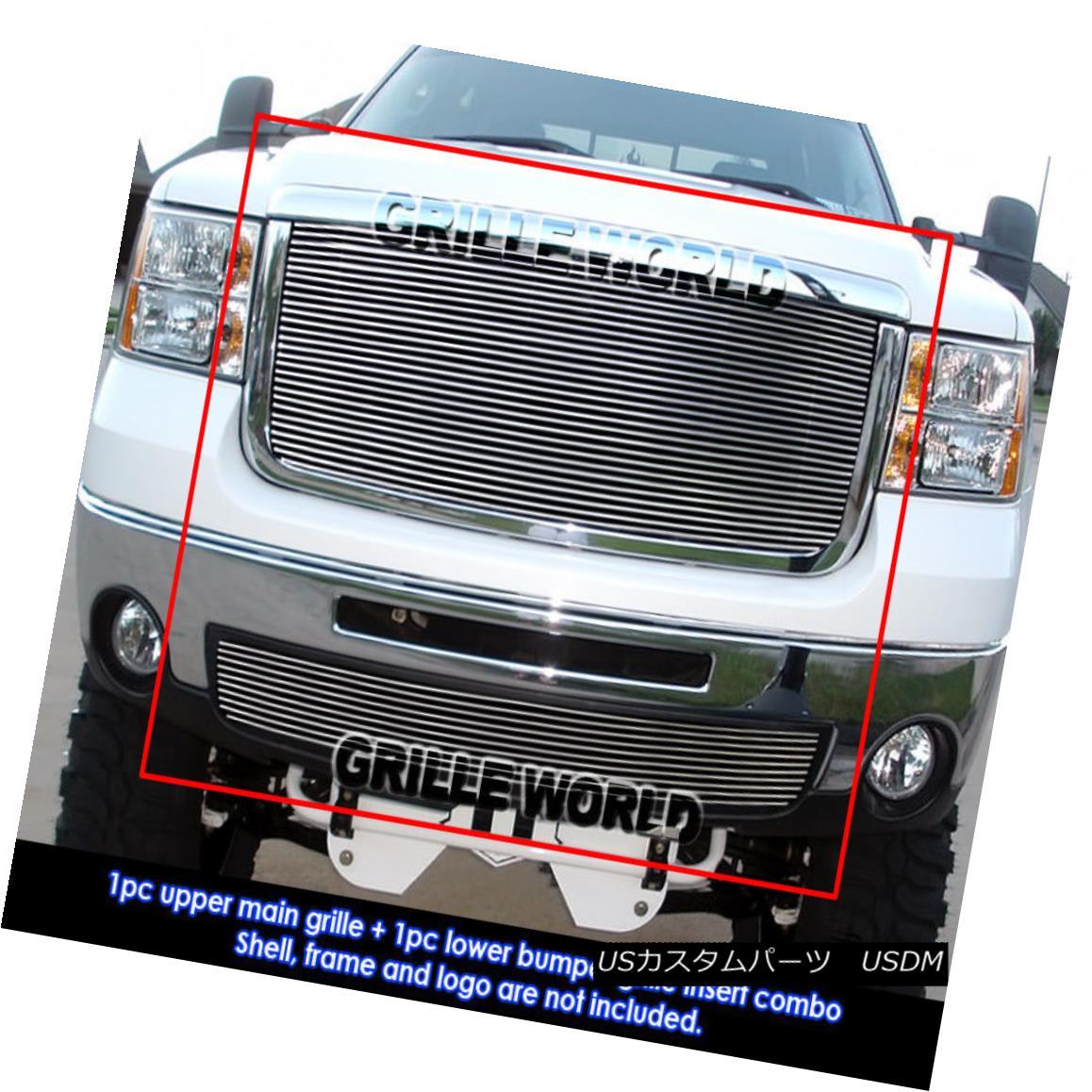 グリル For 07-10 GMC Sierra 2500HD/3500HD Billet Grille Insert Combo 07-10 GMC Sierra 2500HD / 3500HDビレットグリルインサートコンボ用