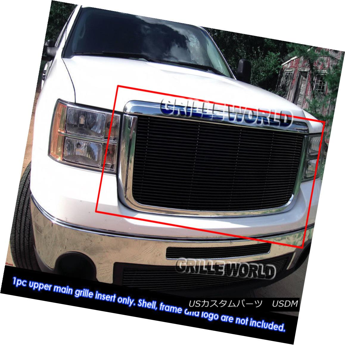 グリル For 07-2010 GMC Sierra 2500/3500 HD Black Billet Grille Insert 07-2010 GMC Sierra 2500/3500 HDブラックビレットグリルインサート