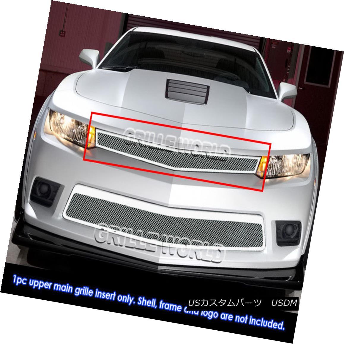 グリル Fits 2014-2015 Chevy Camaro SS/LT Stainless Steel Mesh Grille フィット2014-2015シボレーカマロSS / LTステンレスメッシュグリル