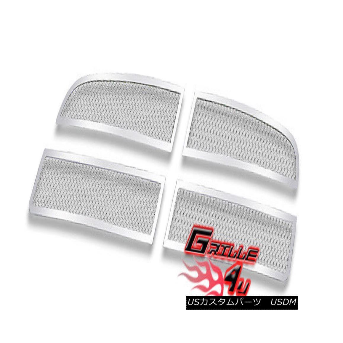 グリル For 05-10 Dodge Charger Stainless Steel Mesh Premium Grille Insert 05-10ダッジチャージャー用ステンレスメッシュプレミアムグリルインサート