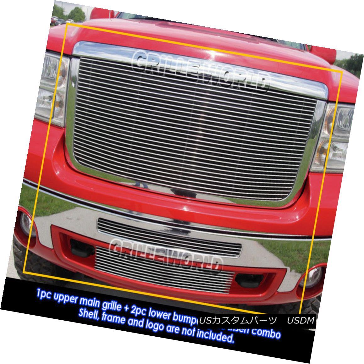 グリル For 2007-2010 GMC Sierra 2500/3500 HD Billet Grille Grill Combo Insert 2007-2010 GMC Sierra 2500/3500 HDビレットグリルグリルコンボインサート