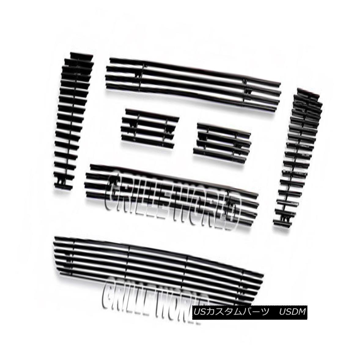 グリル For 2006-2008 Ford F-150 Bar Style Black Billet Premium Grille Grill Combo 2006-2008フォードF-150バースタイルブラックビレットプレミアムグリルグリルコンボ用