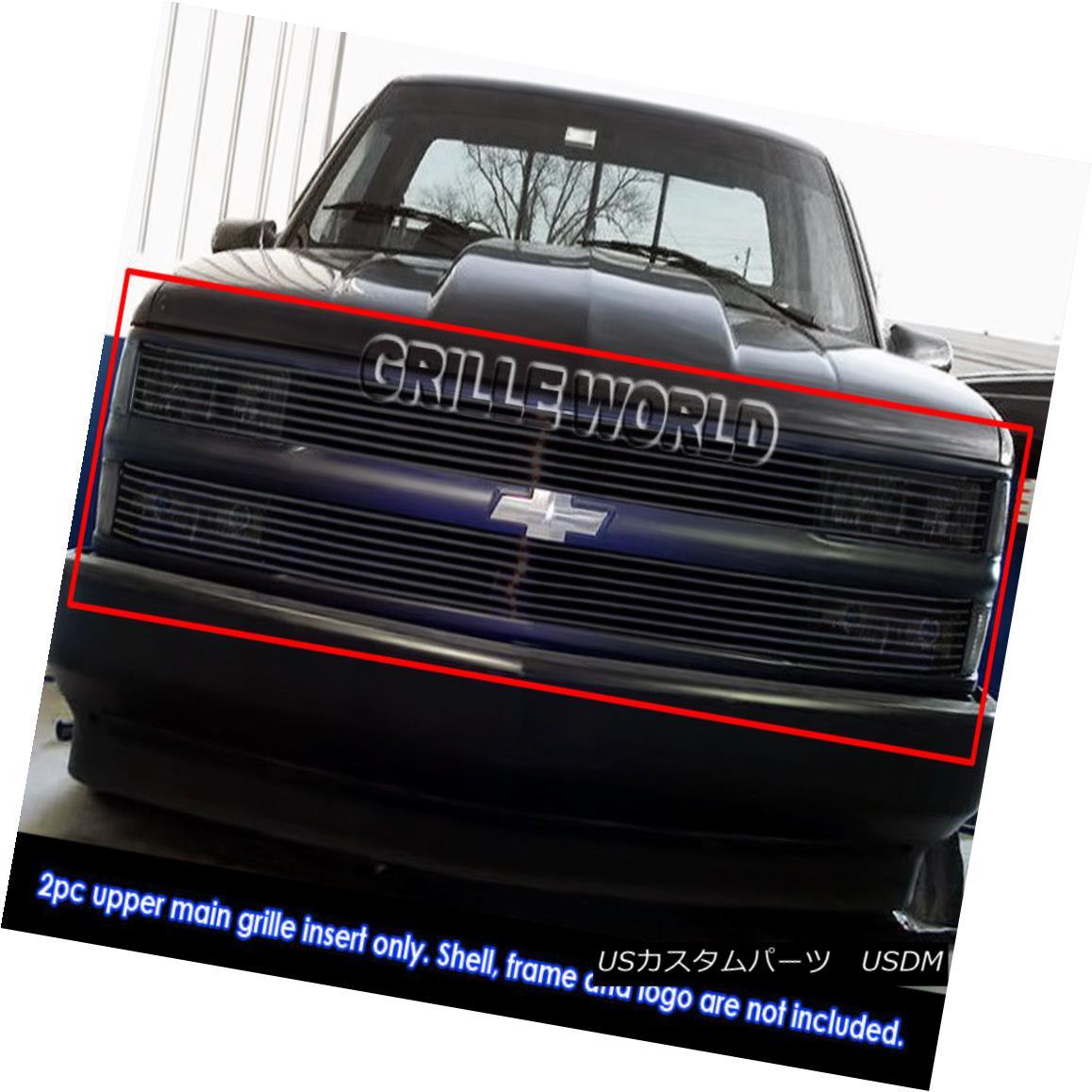 グリル 94-99 C/K Pickup/Suburban/Blazer/Tahoe Phantom Black Billet Grille Grill Insert 94-99 C / Kピックアップ/サバーブ n /ブレイザー/タホファントムブラックビレットグリルグリルインサート