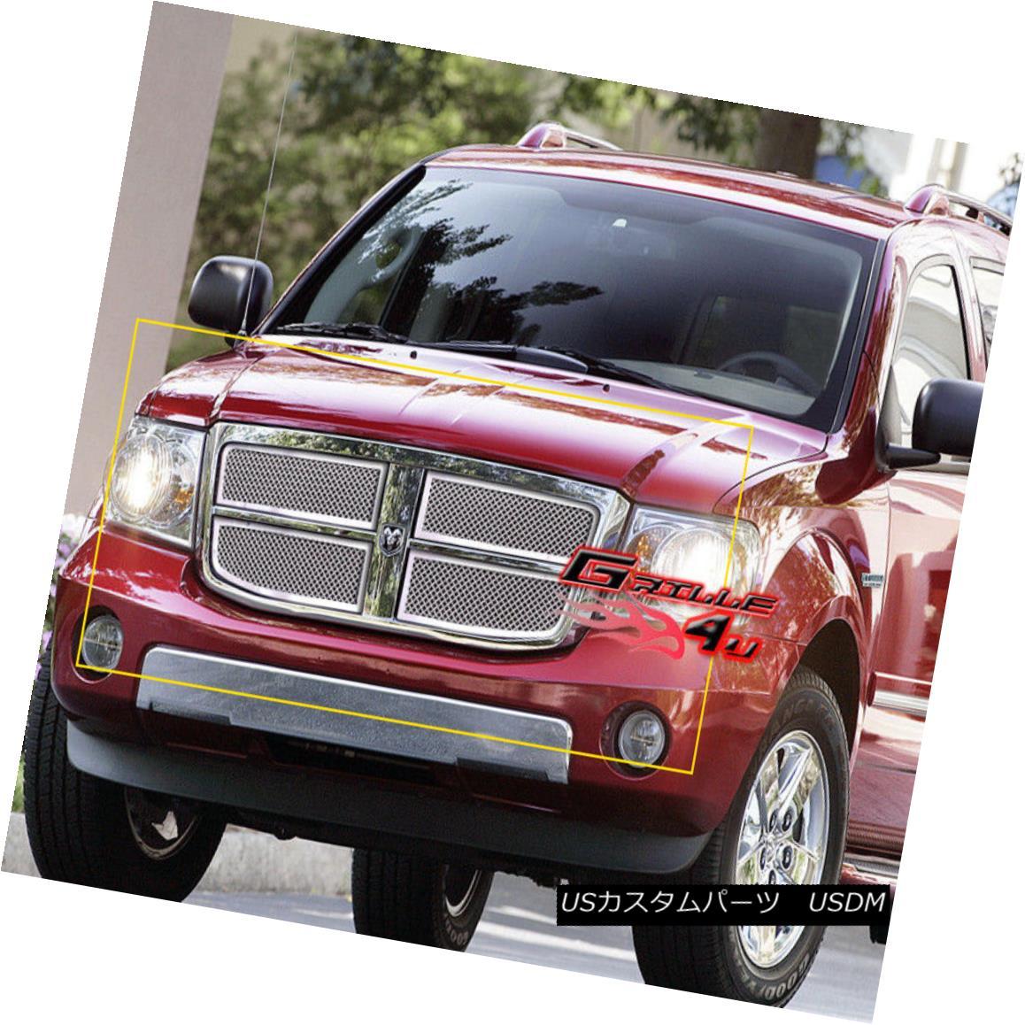 グリル For 07-10 Dodge Durango Stainless Steel Mesh Grille Insert 07-10 Dodge Durangoステンレスメッシュグリルインサート