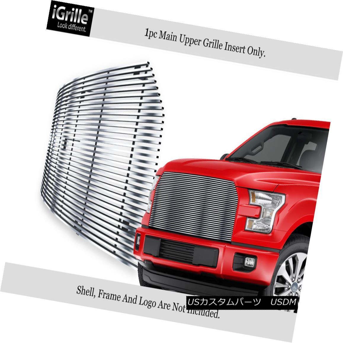 グリル For 2015-2017 Ford F-150 Stainless Steel Replacement Billet Grille Insert 2015-2017 Ford F-150ステンレススチール交換用ビレットグリルインサート