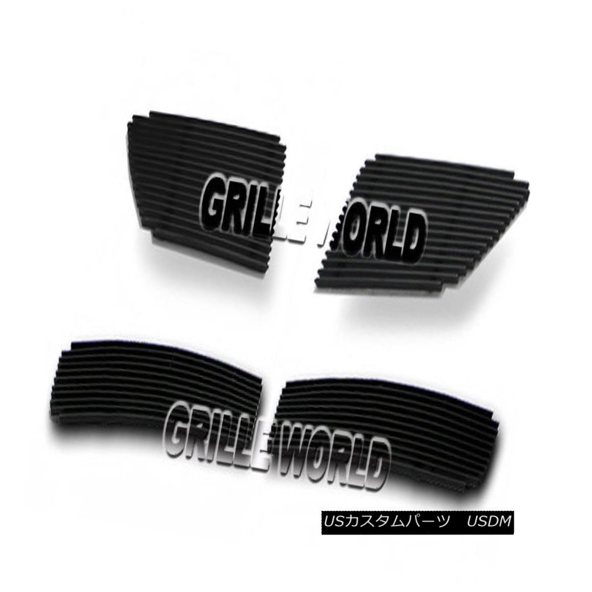 グリル For 08-09 Pontiac G8 Black Billet Premium Grille Insert Combo 08-09ポンティアックG8ブラックビレットプレミアムグリルインサートコンボ用