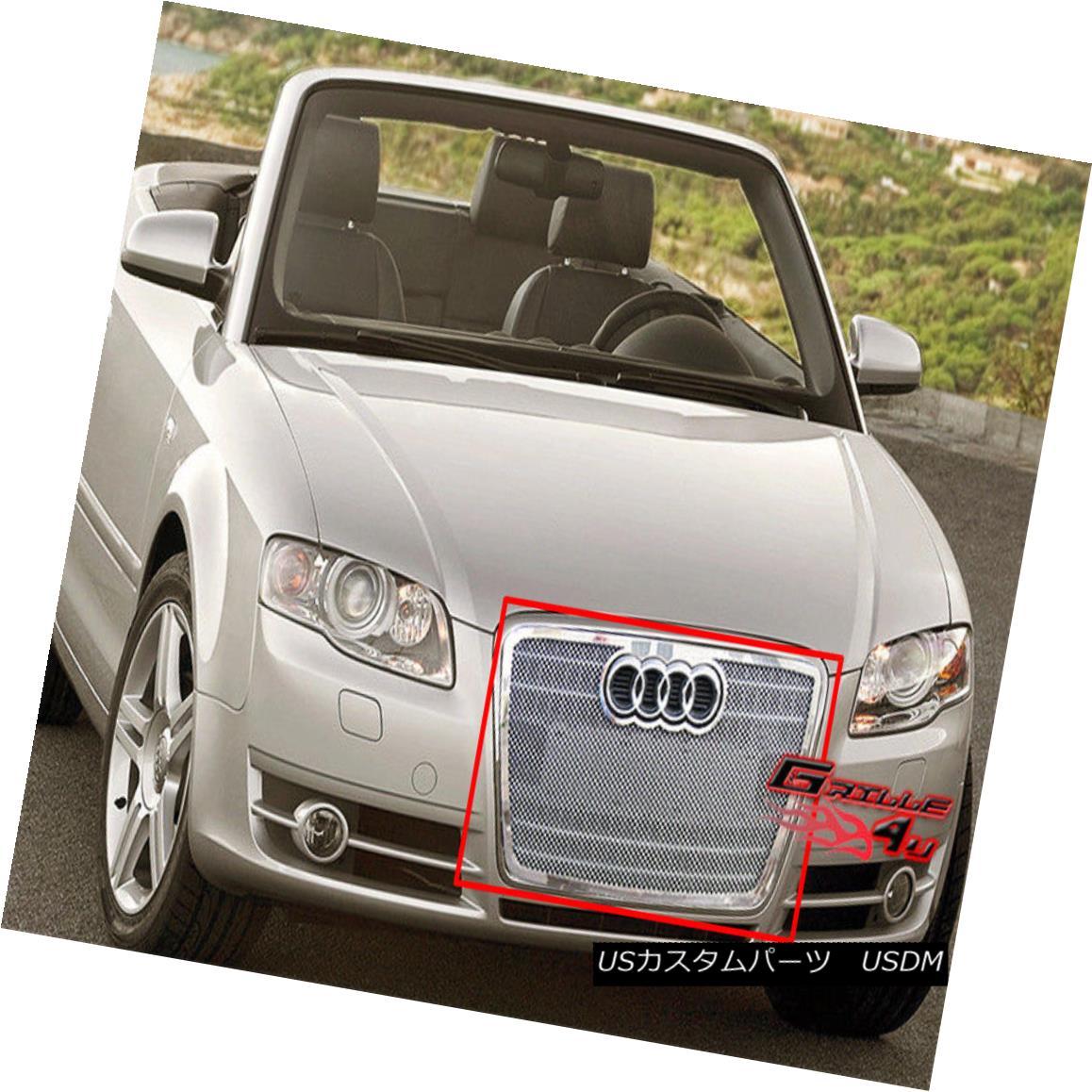 グリル For 06-07 Audi A4 Stainless Steel Mesh Grille Insert 06-07 Audi A4ステンレスメッシュグリルインサート