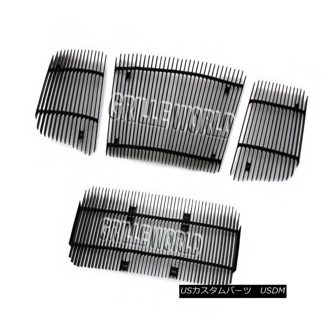グリル For 04-07 Titan/Armada Black Vertical Billet Premium Grille Combo 04-07タイタン/アルマダブラック縦型ビレットプレミアムグリルコンボ用