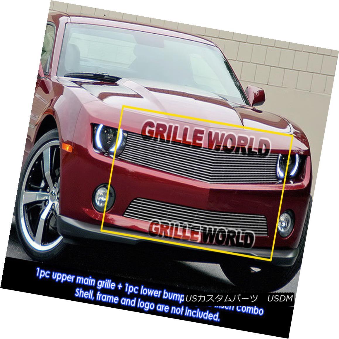 グリル For 2010-2013 Chevy Camaro LT/LS V6 Billet Grille Grill Insert Combo 2010-2013シボレーカマロLT / LS V6ビレットグリルグリルインサートコンボ用