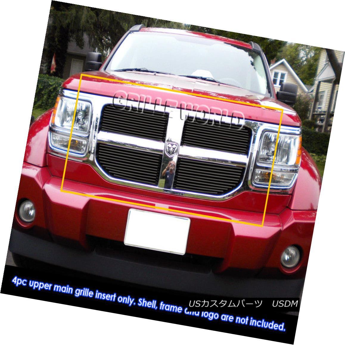グリル Fits 2007-2011 Dodge Nitro Black Billet Grille Grill Insert フィット2007年から2007年のダッジニトロブラックビレットグリルグリルインサート