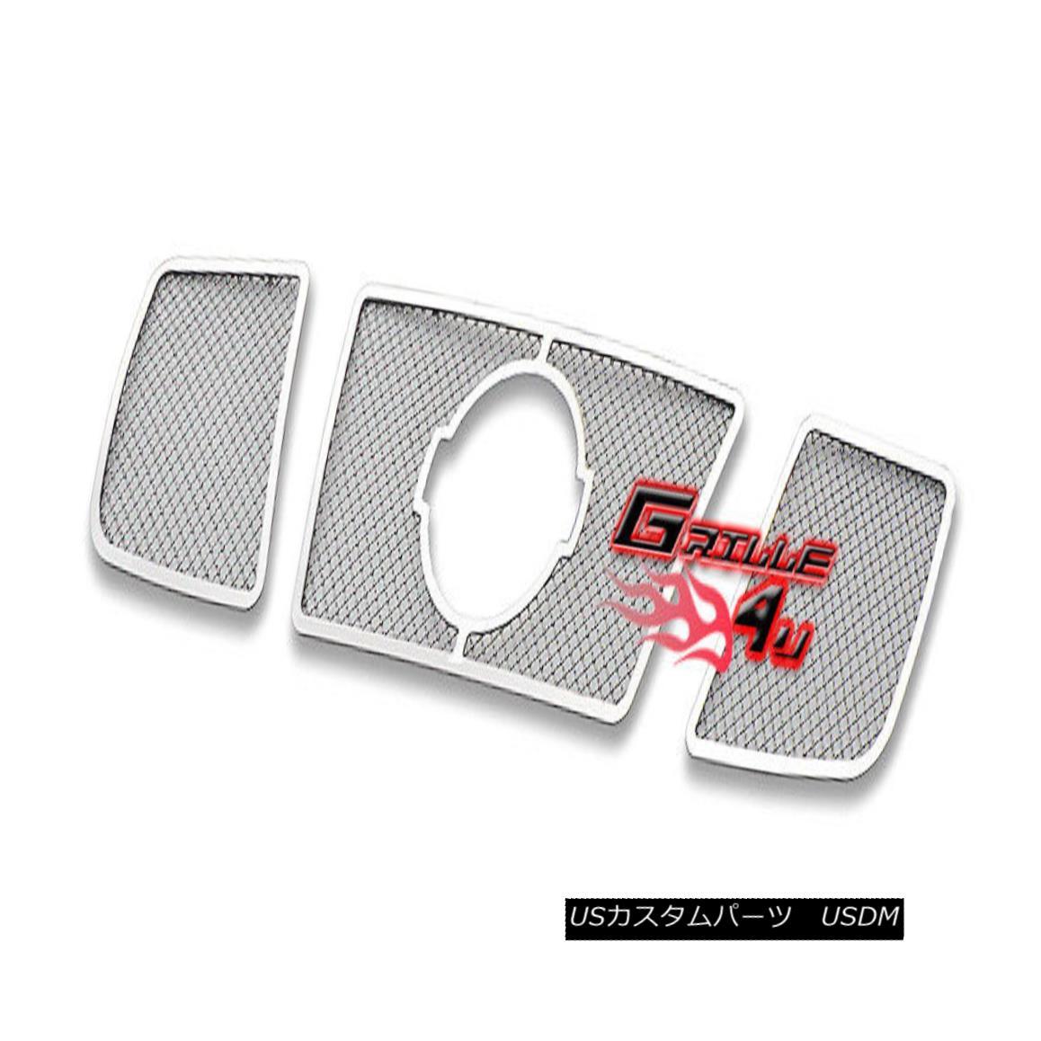 グリル For 04-07 Nissan Titan/Armada Stainless Steel Mesh Premium Grille 04-07日産タイタン/アルマダステンレスメッシュプレミアムグリル