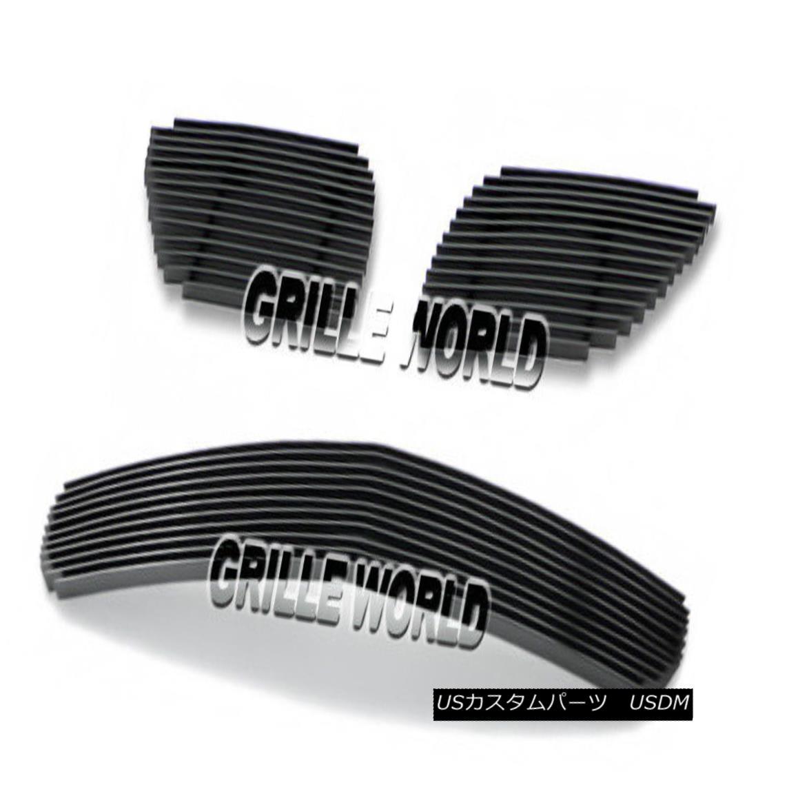 グリル For 04-06 Pontiac GTO Black Billet Premium Grille Grill Combo Insert 04-06ポンティアックGTOブラックビレットプレミアムグリルグリルコンボインサート