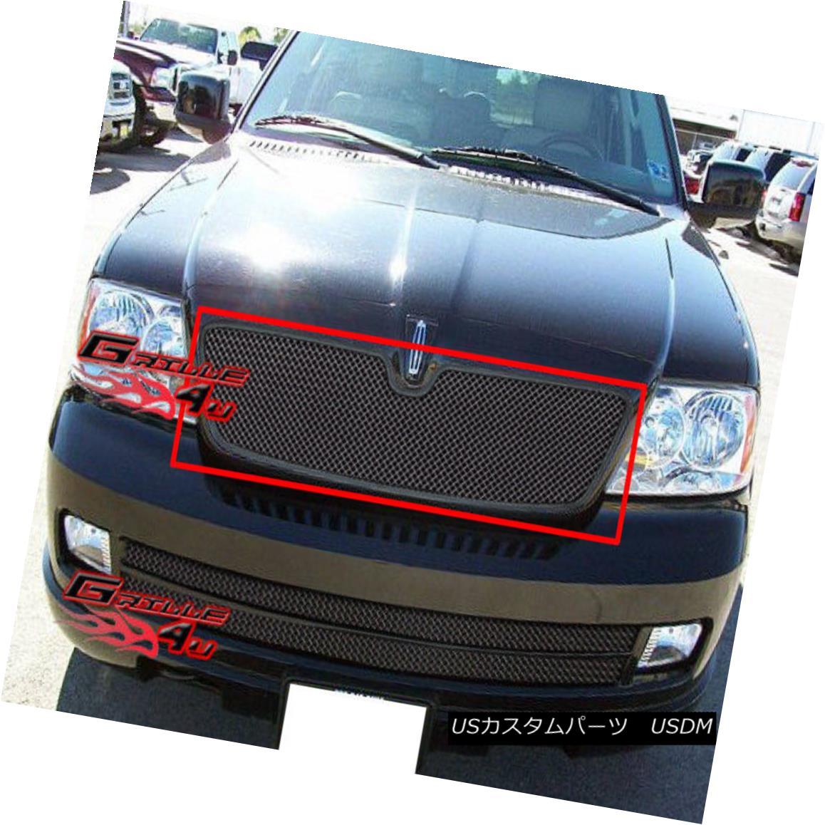 グリル For 03-06 Lincoln Navigator Black Mesh Grille Insert 03-06リンカーンナビゲーターブラックメッシュグリルインサート