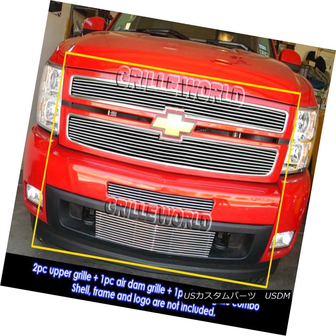 グリル For 2007-2012 Chevy Silverado 1500 Billet Grille Grill Combo Insert Chevy Silverado 1500ビレットグリルグリルコンボインサート