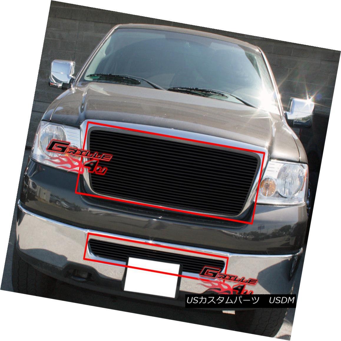 グリル For 06-08 Ford F-150 Black Billet Grille Combo Insert 06-08 Ford F-150 Black Billet Grilleコンボインサート