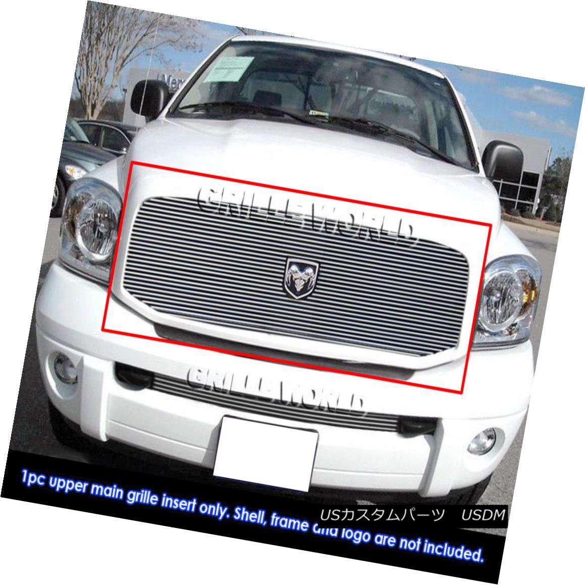 グリル For 06-08 Dodge Ram Pickup Billet Grille Insert 06-08ダッジラムピックアップビレットグリルインサート