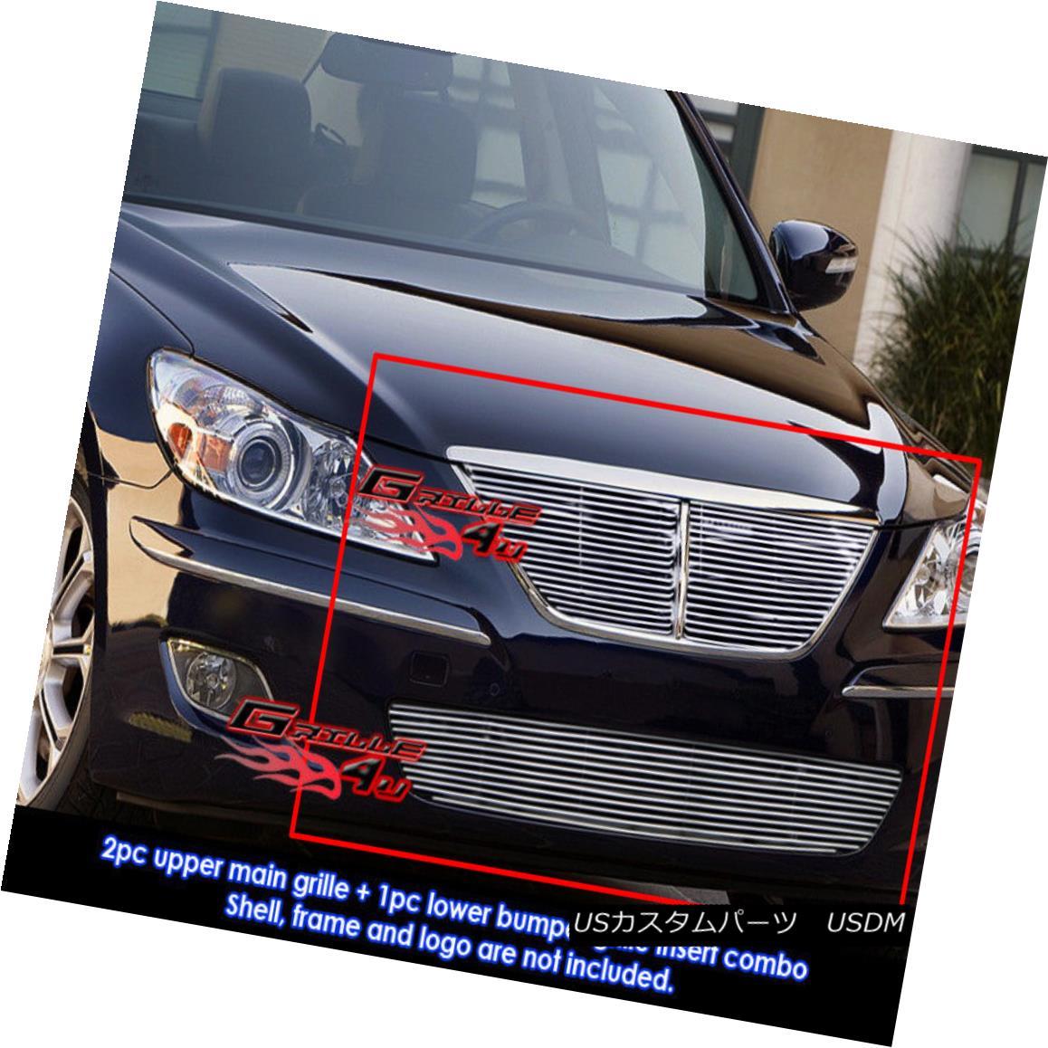グリル 09-11 2011 Fit Hyundai Genesis 4Dr Billet Grille Combo 2011年09月11日フィット・ヒュンダイ・ジェネシス4Drビレット・グリル・コンボ