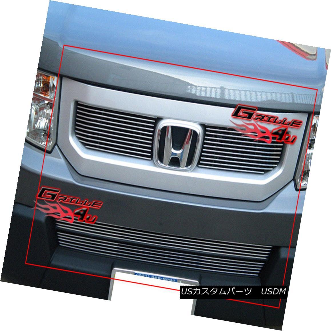 グリル For 09-11 2011 Honda Element Billet Grille Combo Insert 2011年9月11日のホンダエレメントビレットグリルコンボインサート