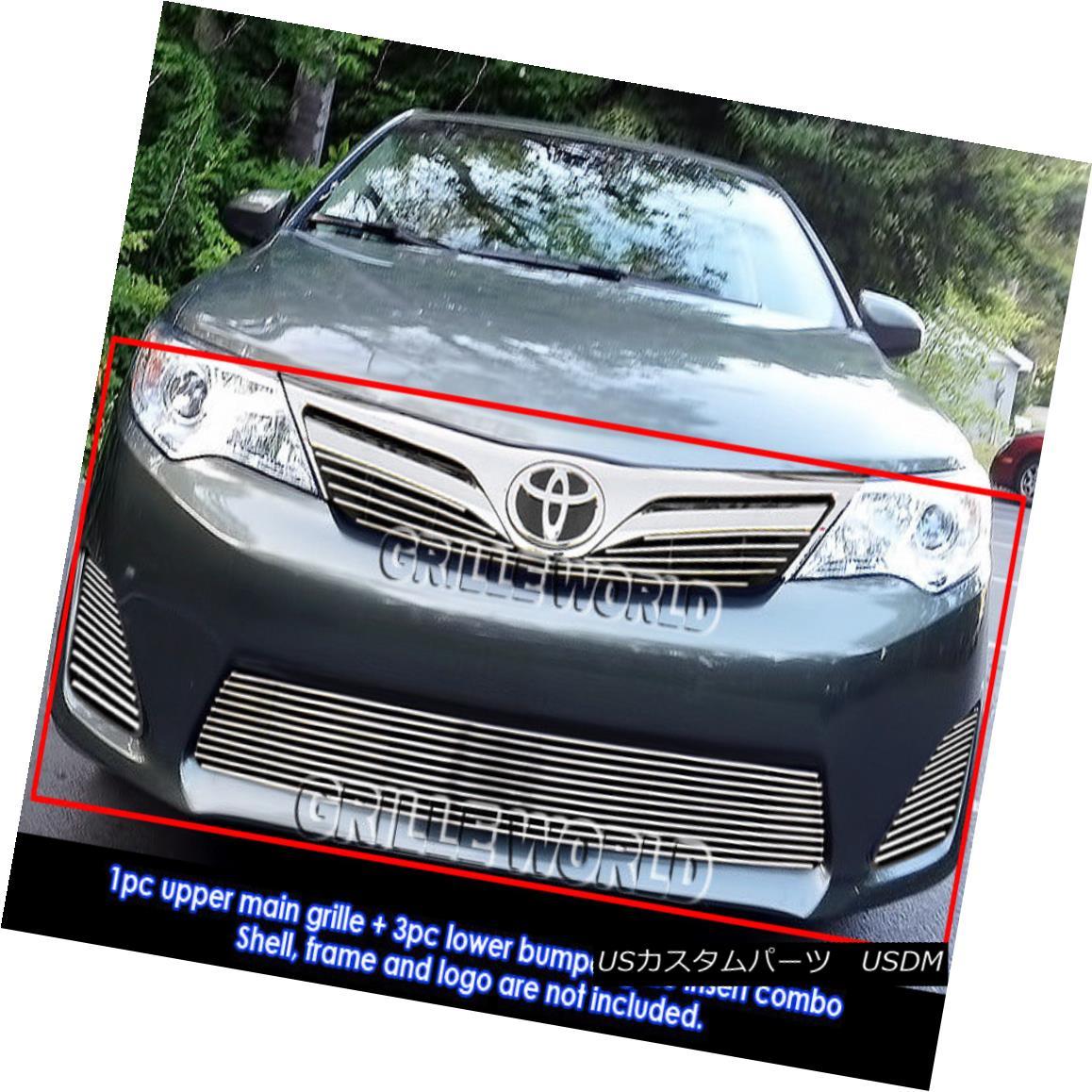 グリル Fits 2011-2014 Toyota Camry Billet Grille Grill Insert Combo 2011-2014年に合うトヨタカムリビレットグリルグリルインサートコンボ