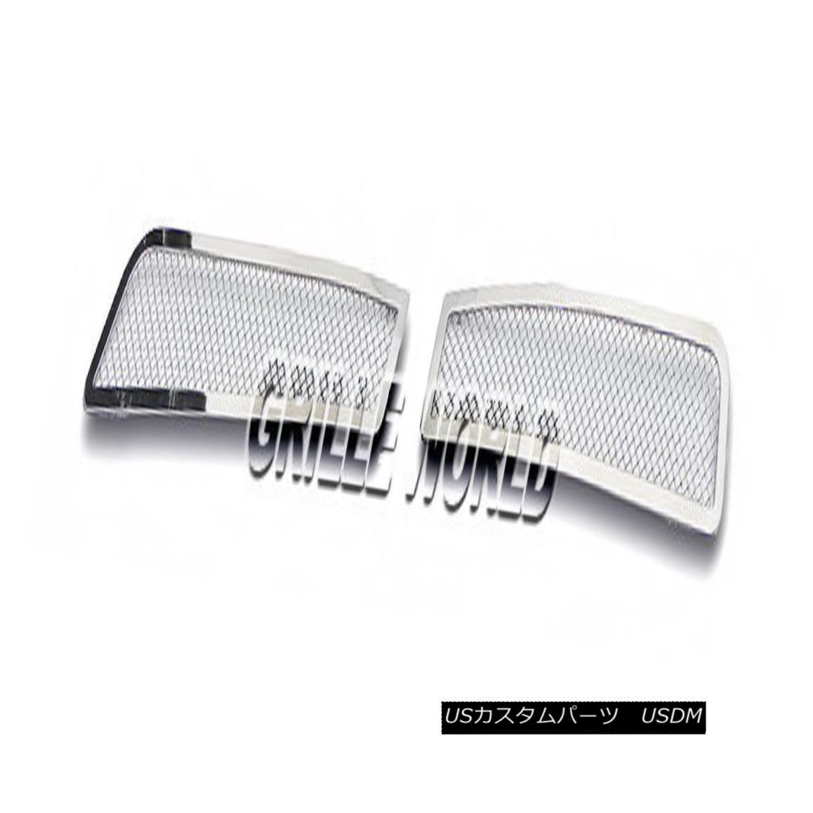 グリル For 08-09 Pontiac G8 Bumper Stainless Steel Mesh Premium Grille Insert 08-09ポンティアックG8バンパーステンレスメッシュプレミアムグリルインサート