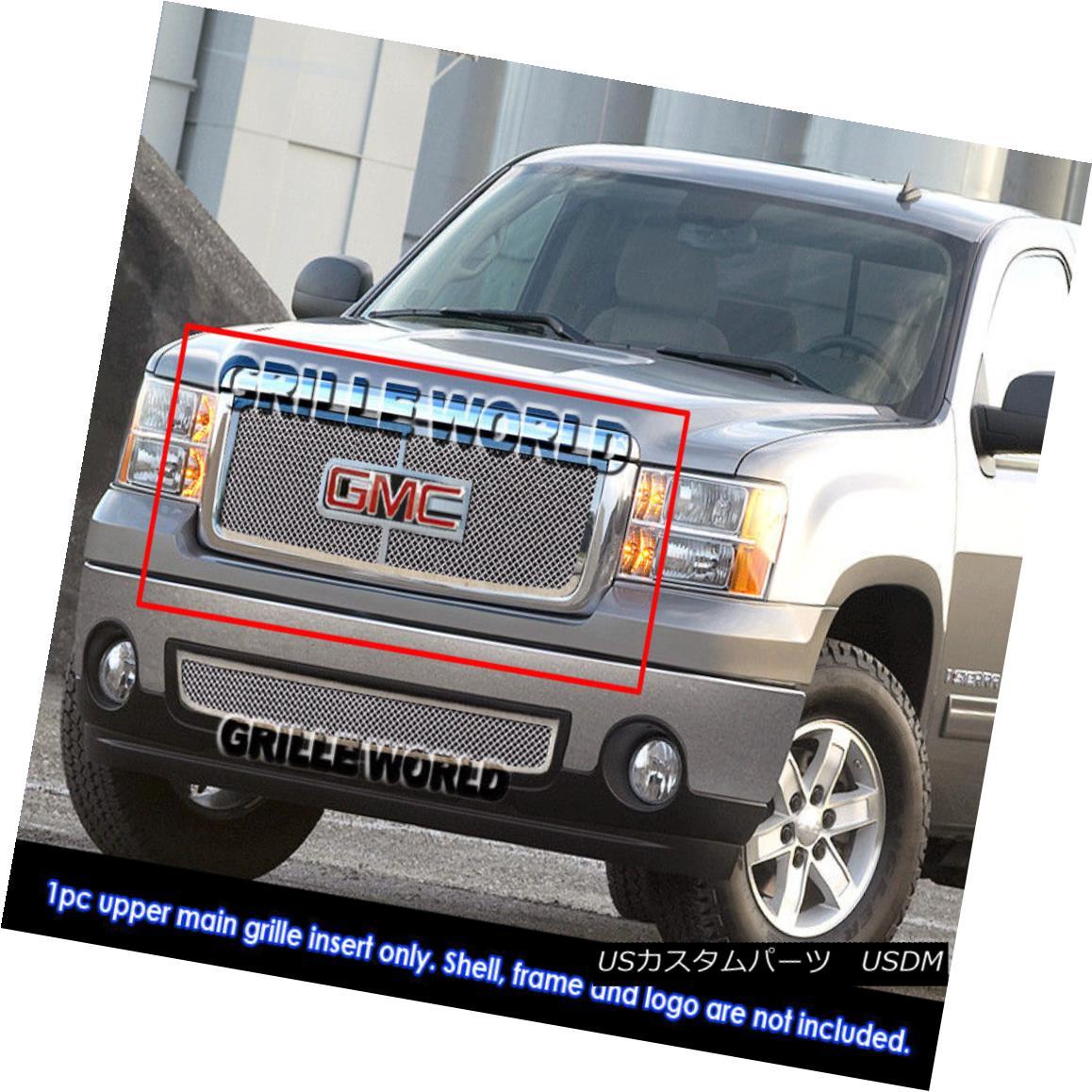 グリル For 07-2011 GMC Sierra 1500 New Body Stainless Mesh Grille 07-2011 GMC Sierra 1500ニューボディステンレスメッシュグリル