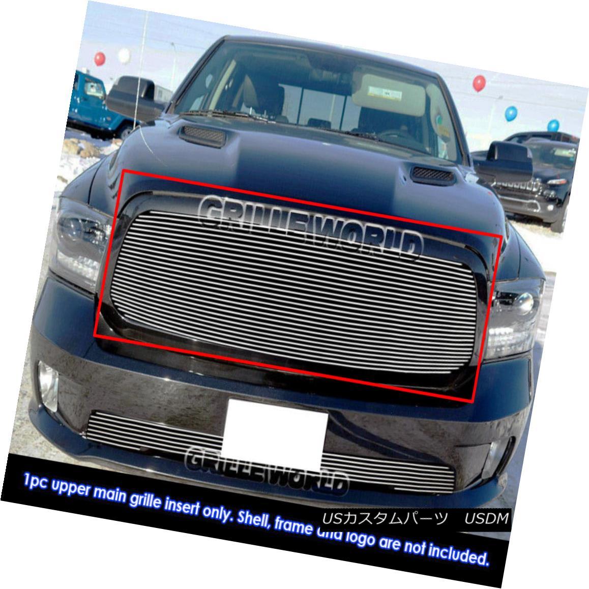 グリル Fits 2013-2018 Ram 1500 Main Billet Grille Insert 2013-2018ラム1500メインビレットグリルインサートに適合