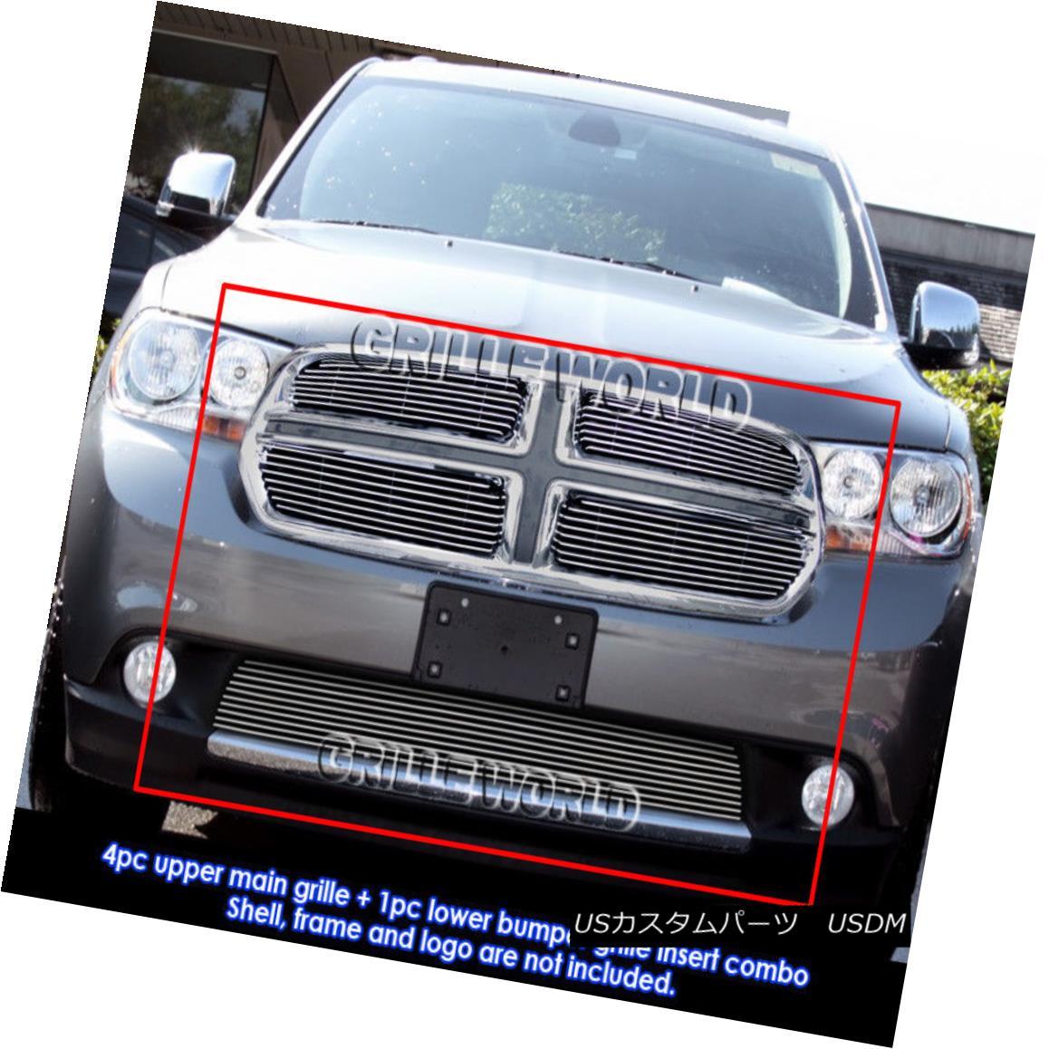 グリル Fits 2011-2013 Dodge Durango Billet Grille Grill Insert Combo 2011-2013 Dodge Durangoビレットグリルグリルインサートコンボ