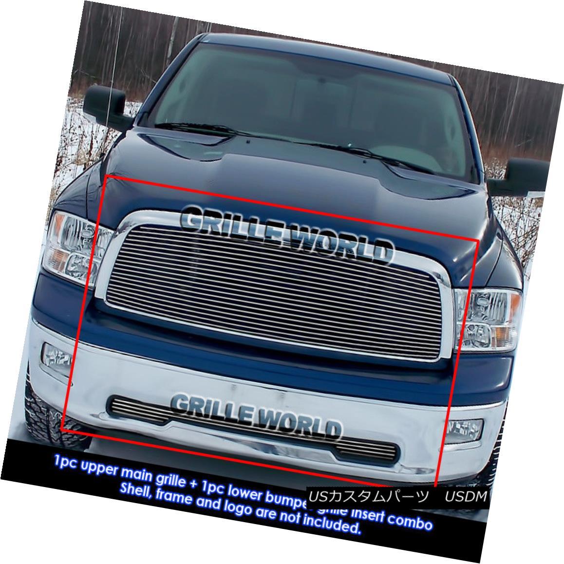 グリル For 2009-2012 Dodge Ram 1500 Pickup Billet Grille Grill Combo insert 2010 2011 2009-2012ダッジラム1500ピックアップビレットグリルグリルコンボインサート2010 2011