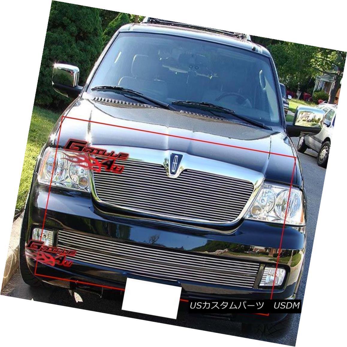 グリル For 05-06 Lincoln Navigator Billet Grille Combo Insert 05-06リンカーンナビゲータービレットグリルコンボインサート
