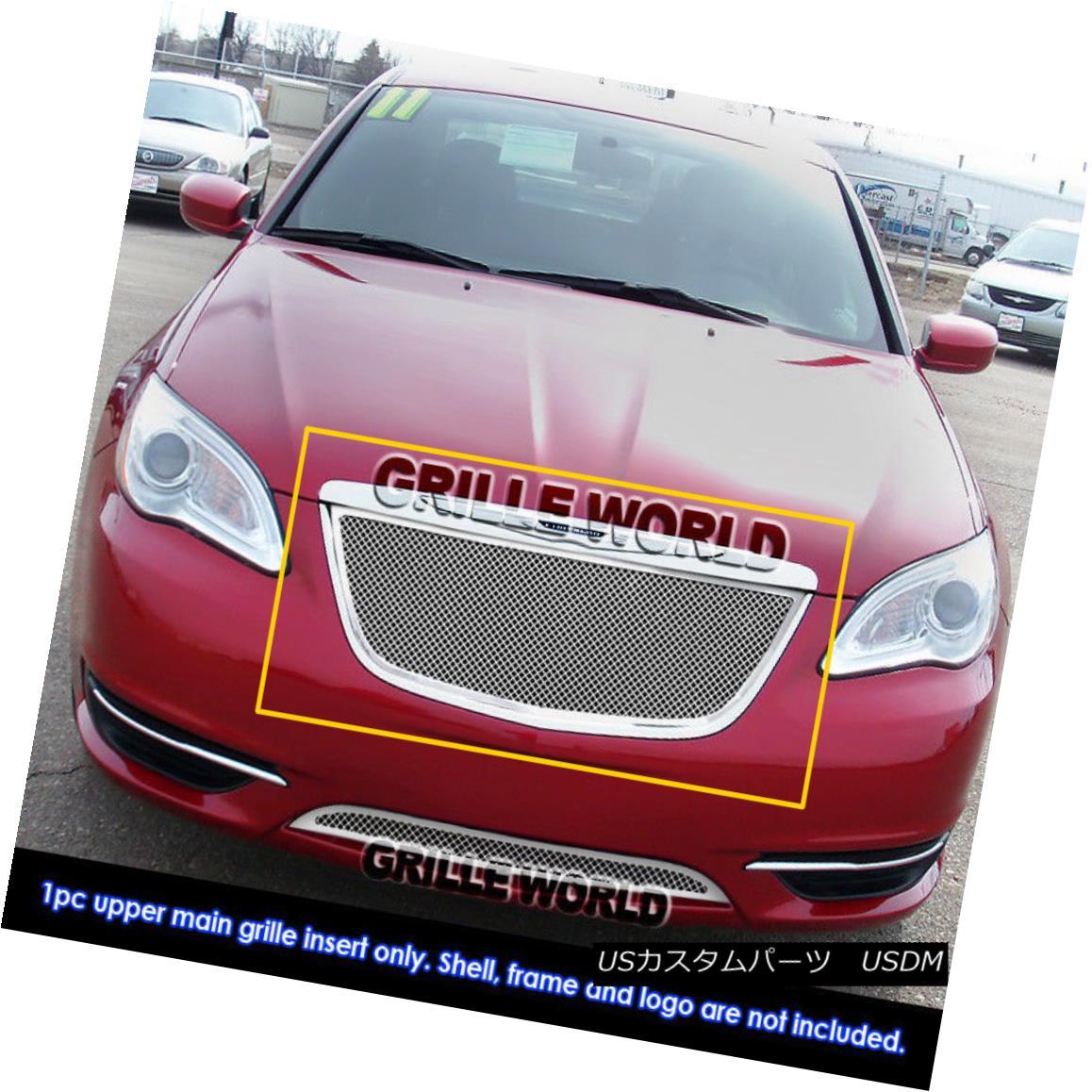 グリル For 2011-2014 Chrysler 200 Stainless Steel Mesh Grille Grill Insert 2011-2014クライスラー200ステンレスメッシュグリルグリルインサート