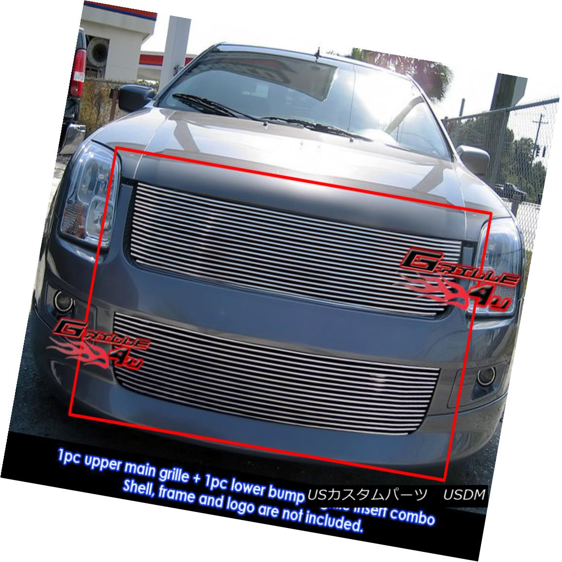 グリル For 06-09 Ford Fusion Billet Grille Combo Insert 06-09 For Ford Fusion Billet Grilleコンボインサート