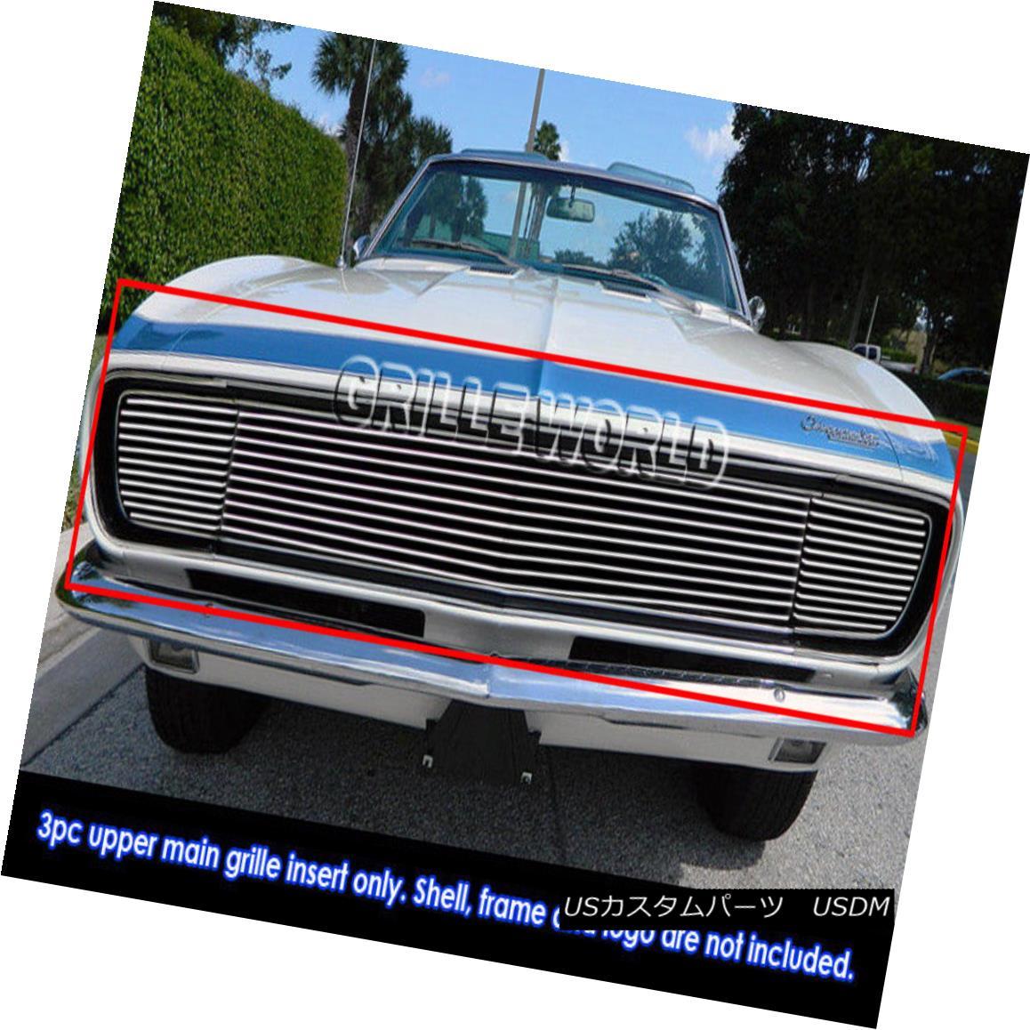 グリル For 1967-1968 Chevy Camaro RS Model Billet Grille Grill Insert 1967?1968年シボレーカマロRSモデルビレットグリルグリルインサート