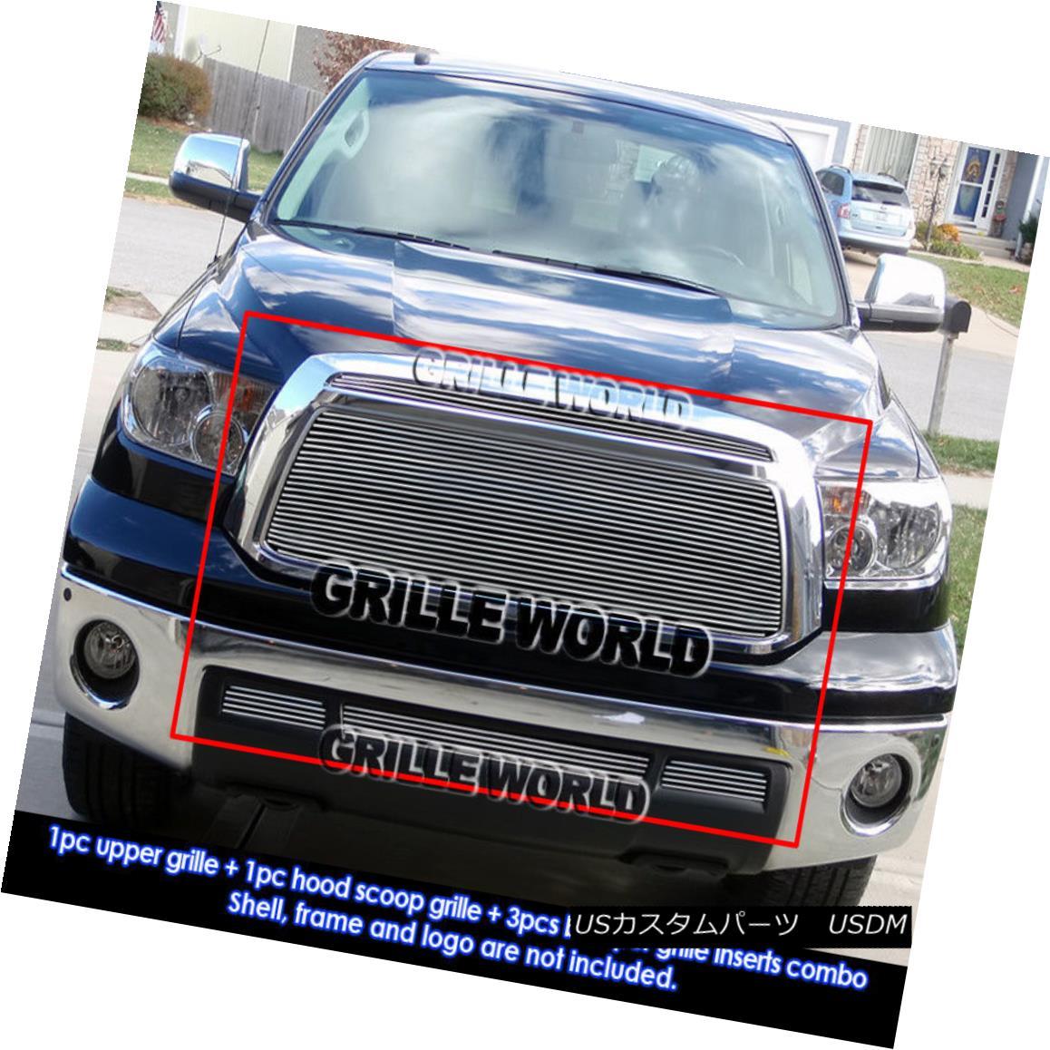 グリル For 10-11 2011 Toyota Tundra Billet Grille Combo Insert 2011年10月11日、トヨタ・トンドラ・ビレット・グリル・コンボ・インサート