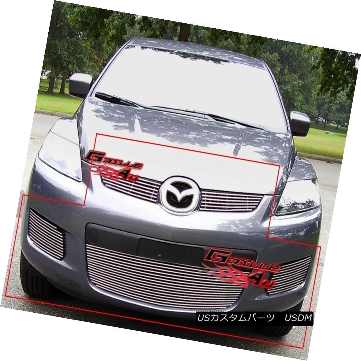 グリル For 07-09 Mazda CX7 CX-7 Billet Grille Combo Insert 07-09マツダCX7 CX-7ビレットグリルコンボインサート