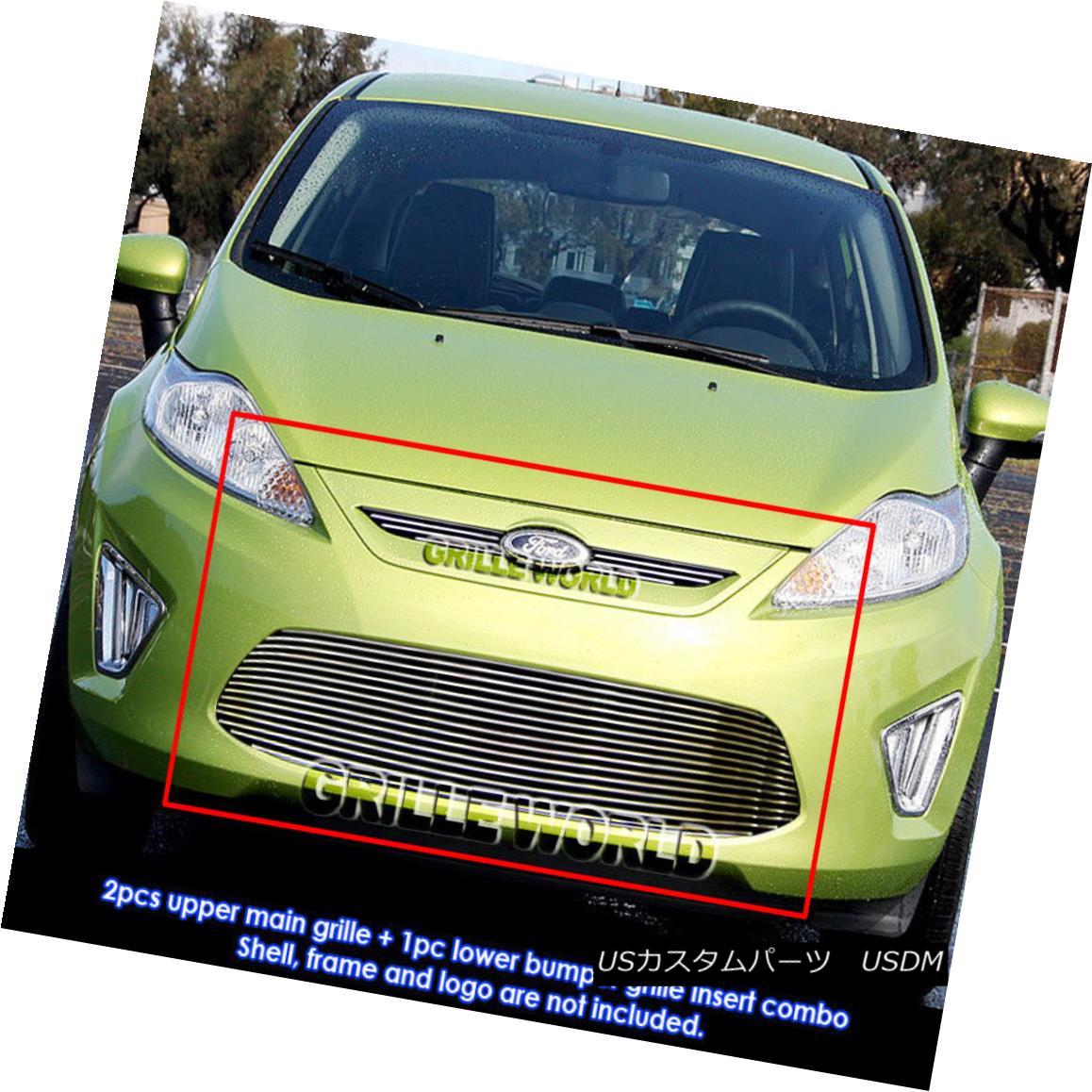 グリル For 2011-2012 Ford Fiesta SE/SEL Billet Grille Grill Insert 2011-2012 Ford Fiesta SE / SELビレットグリルグリルインサート用