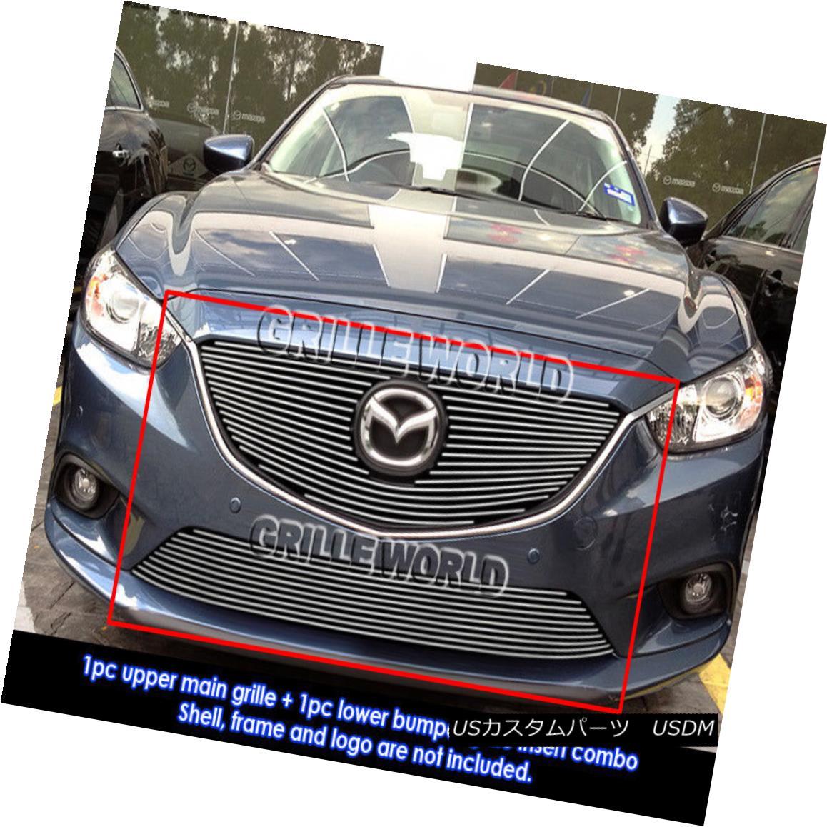 グリル For 2013-2015 Mazda 6 Billet Grill Insert Combo 2013-2015マツダ6ビレットグリルインサートコンボ用