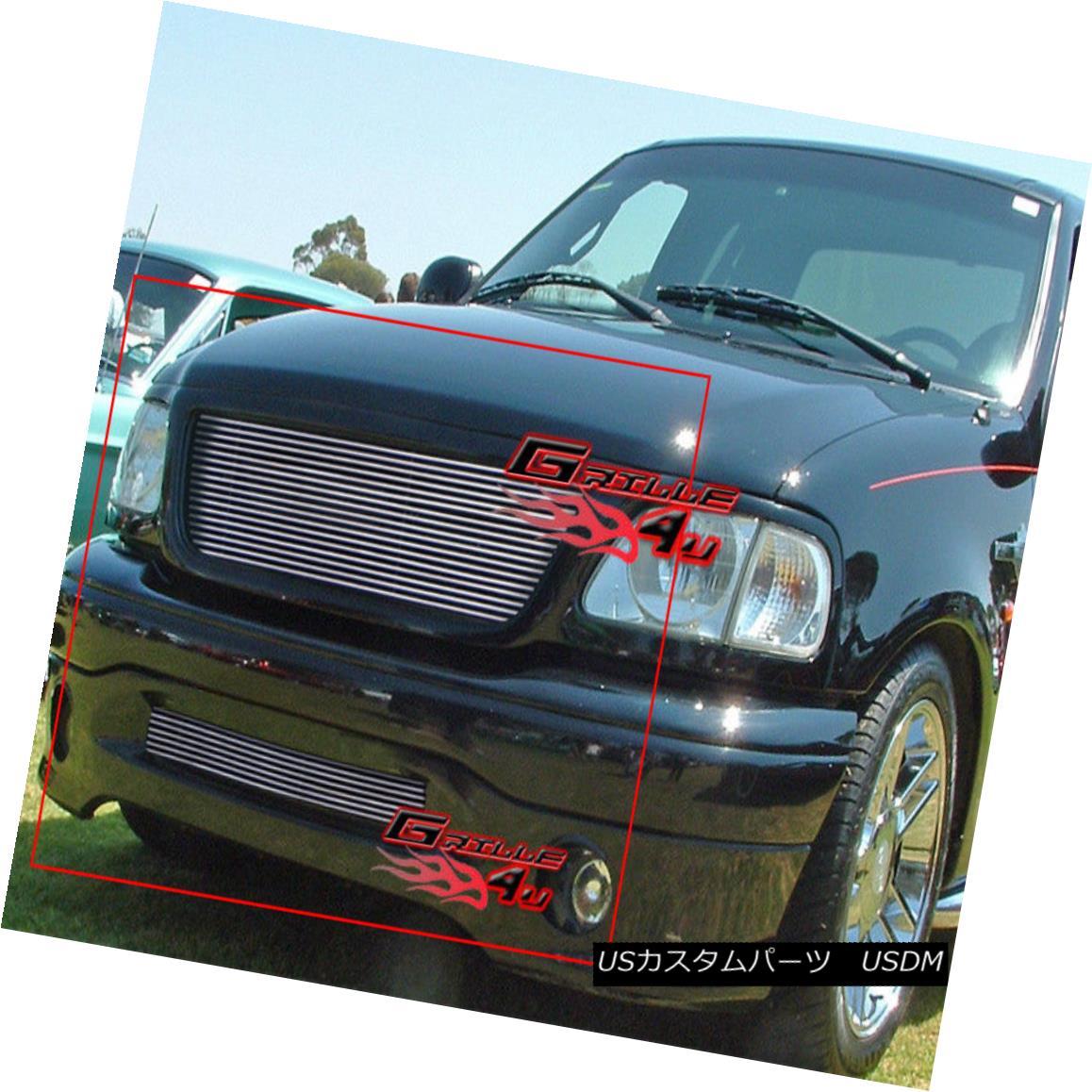 グリル For 99-03 Ford F-150 Harley Davidson Billet Grille Combo 99-03フォードF-150ハーレーダビッドソンビレットグリルコンボ用