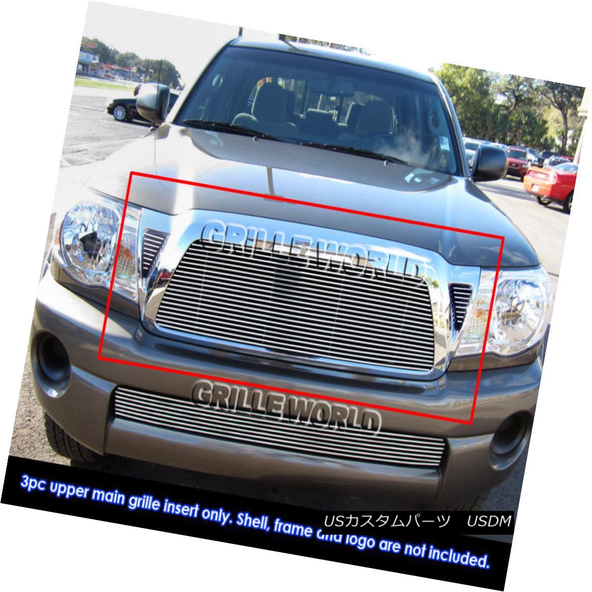 グリル Fits 2011 Toyota Tacoma Billet Grille Grill Insert 2011年トヨタタコマビレットグリルグリルインサートに適合