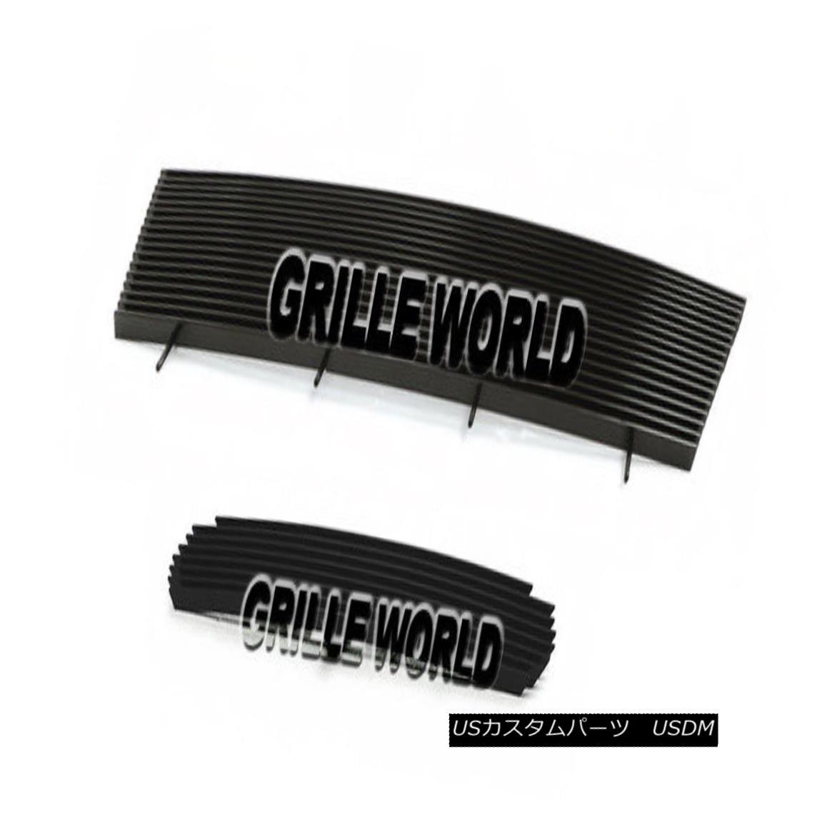 グリル For 98-00 Ford Ranger Black Billet Premium Grille Combo Insert 98-00フォードレンジャーブラックビレットプレミアムグリルコンボインサート