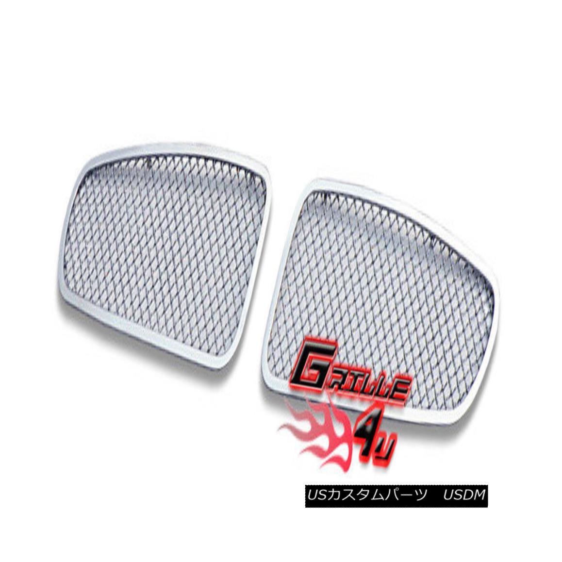 グリル Customized For 02-06 Jaguar X Type Stainless Mesh Premium Grille Insert 02-06ジャガーX型ステンレスメッシュプレミアムグリルインサート