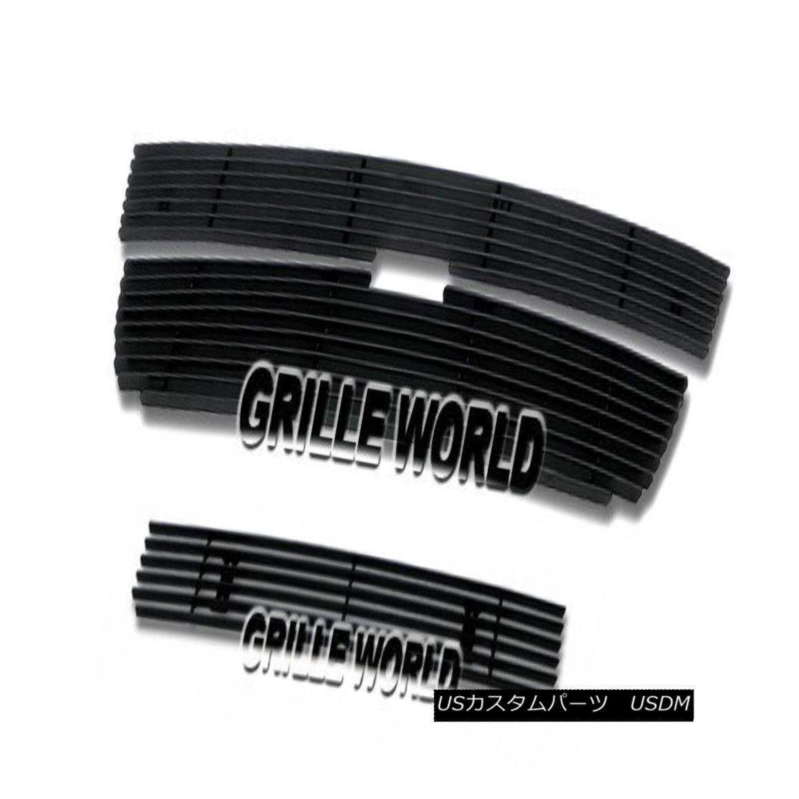 グリル For 04-11 2011 Chevy Colorado Black Billet Premium Grille Combo Insert 04-11 2011シボレーコロラドブラックビレットプレミアムグリルコンボインサート
