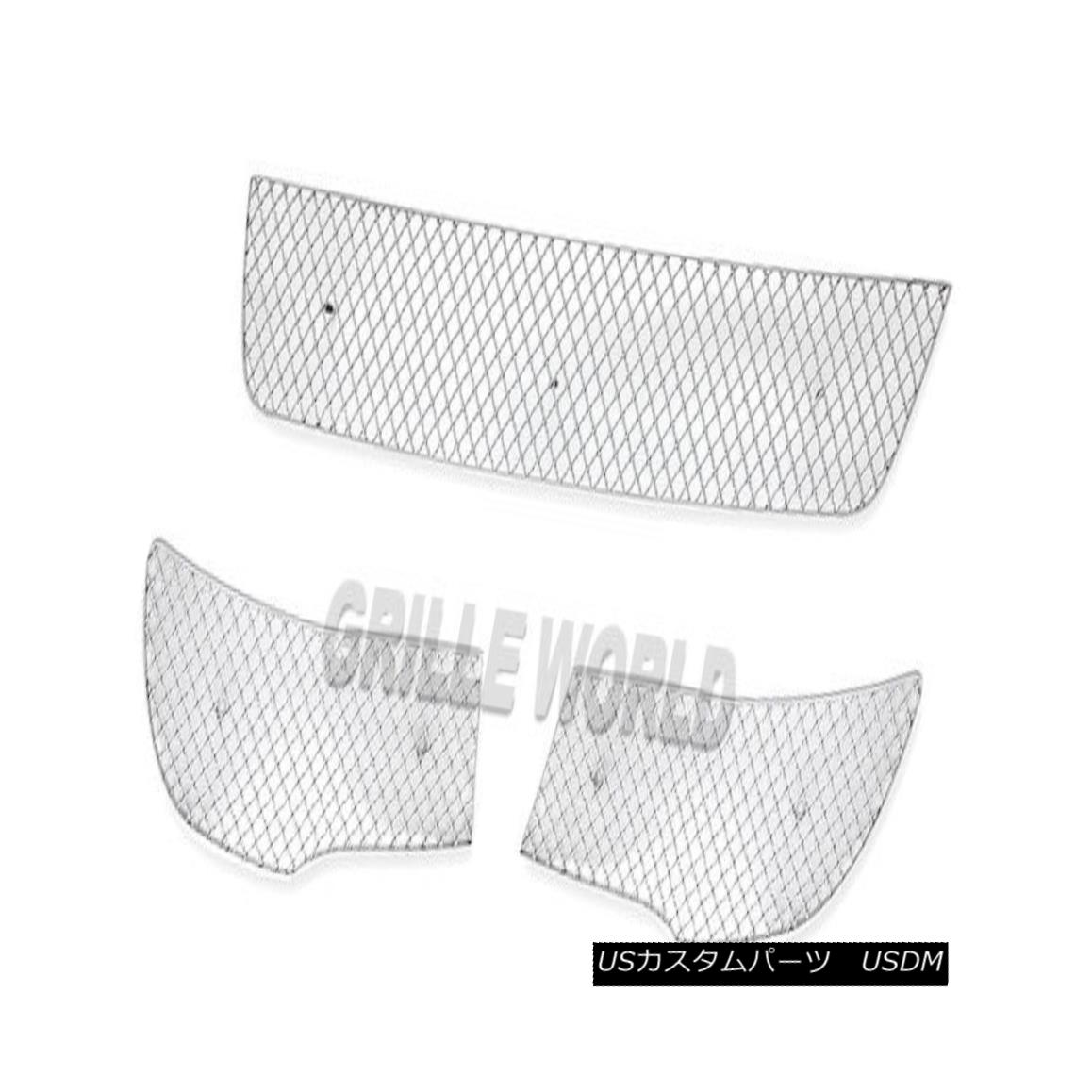 グリル For 10-11 Kia Forte Sedan Bumper Stainless Steel Wire X Mesh Blitz Grille Grill 10-11キアフォルテセダンバンパーステンレス鋼線Xメッシュブリッツグリルグリル