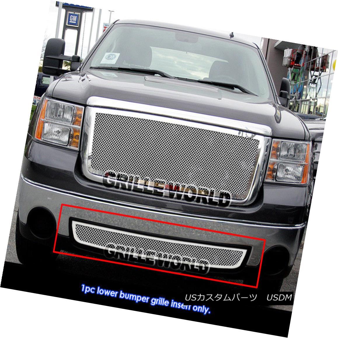 グリル 07-11 GMC Sierra 1500/07-10 2500HD/3500HD Bumper Stainless Steel Mesh Grille 07-11 GMC Sierra 1500 / 07-10 2500HD / 3500HDバンパーステンレスメッシュグリル