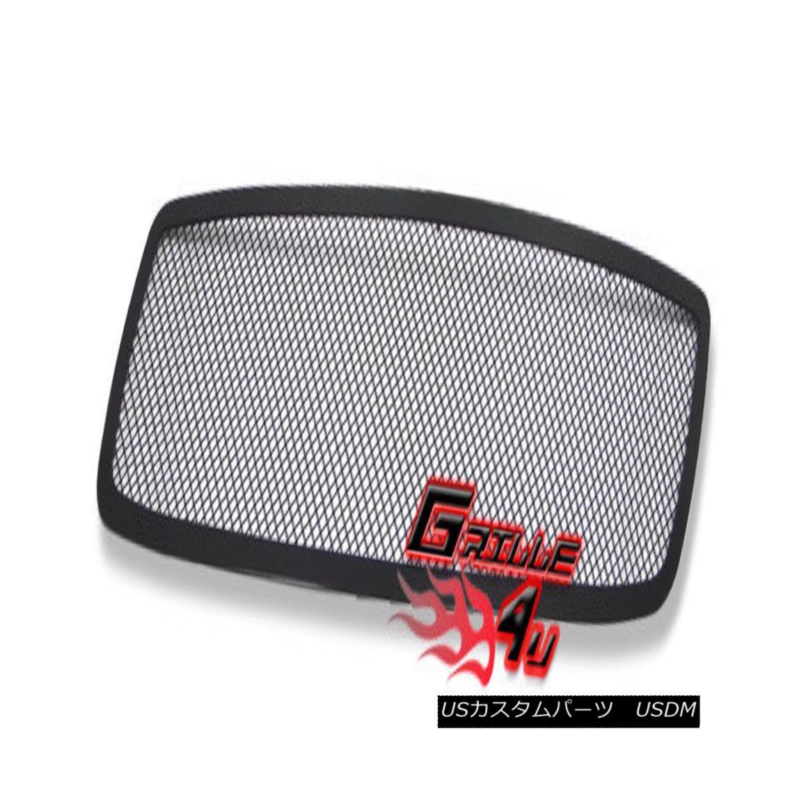 グリル For 05-10 Dodge Charger Black Stainless Mesh Premium Grille Insert 05-10ダッジチャージャブラックステンレスメッシュプレミアムグリルインサート