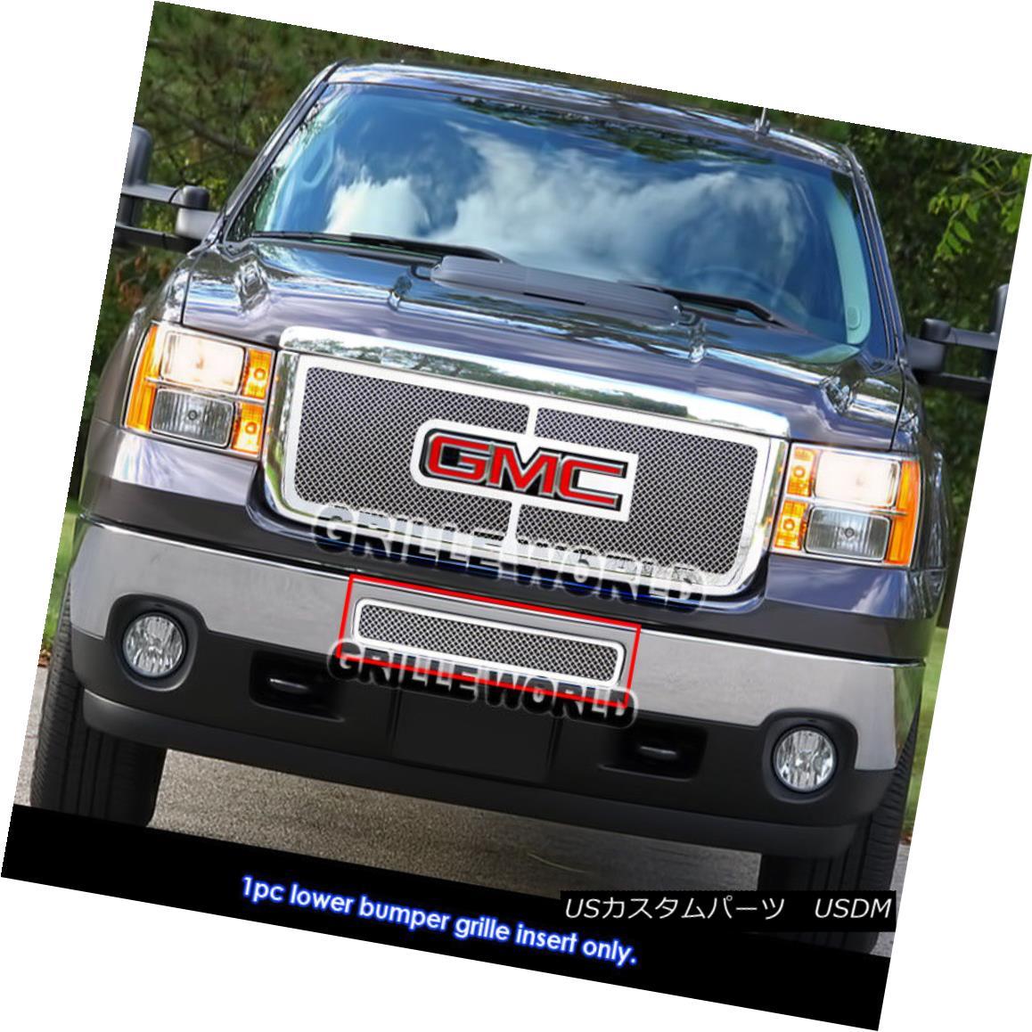 グリル For 2011-2014 GMC Sierra 2500HD/3500HD Bumper Stainless Steel Mesh Grille Grill 2011-2014 GMC Sierra 2500HD / 3500HDバンパーステンレスメッシュグリルグリル