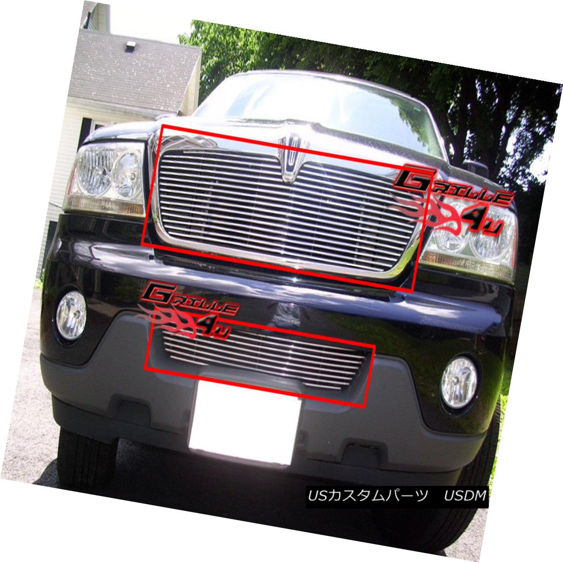 グリル For 03-06 Lincoln Aviator Billet Grille Combo Insert 03-06リンカーンアビエータービレットグリルコンボインサート