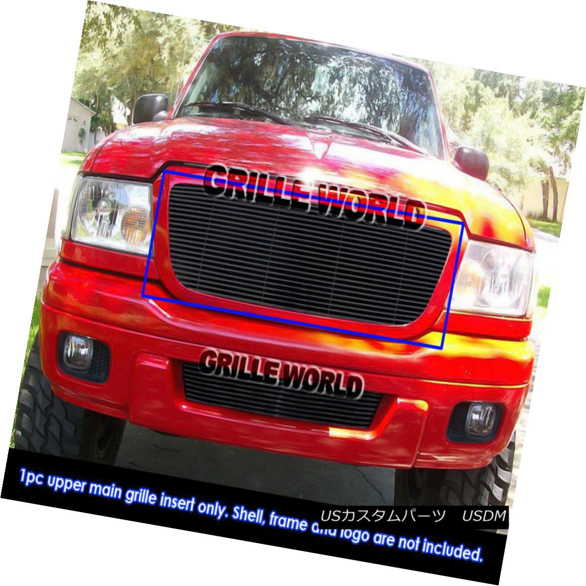 グリル For 04-05 Ford Ranger All Model Black Billet Grille 04-05のためにフォードレンジャーすべてのモデルブラックビレットグリル